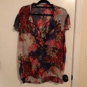 Beautiful sheer floral top